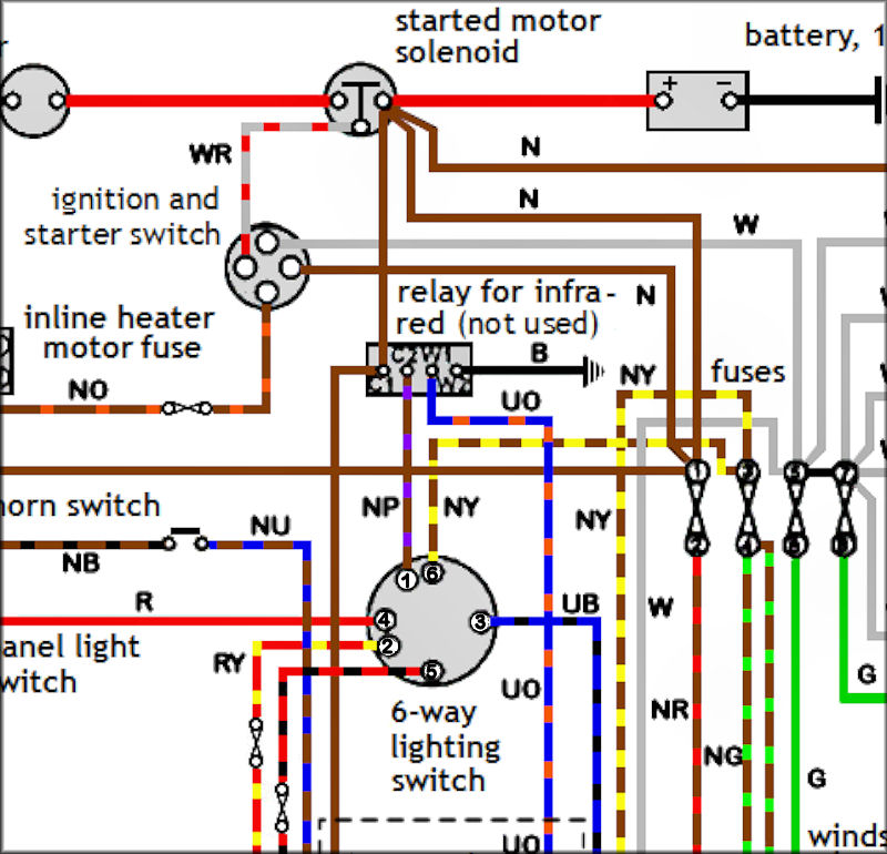 6 Way Switch Wiring Diagram from www.land-rover-lightweight.co.uk