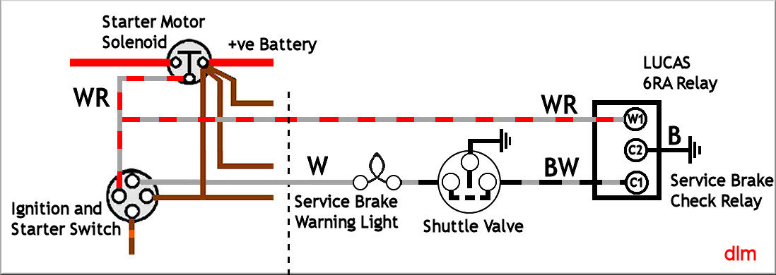 Brake Test Switch Diagram land rover lightweight hazard warning switch wiring diagram at webbmarketing.co