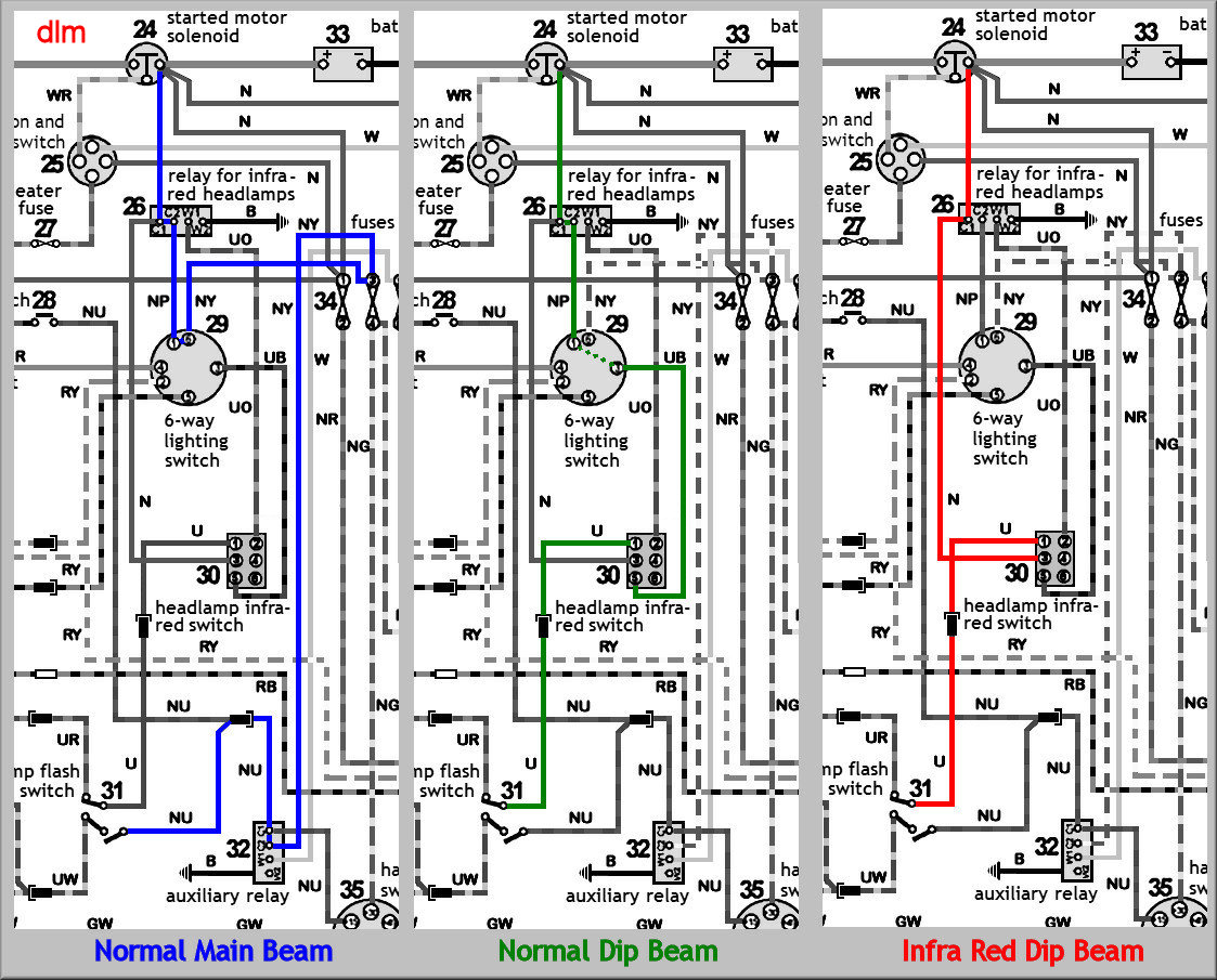 Head Lamp Diagram land rover lightweight,Land Rover Series 3 Dash Wiring Diagram