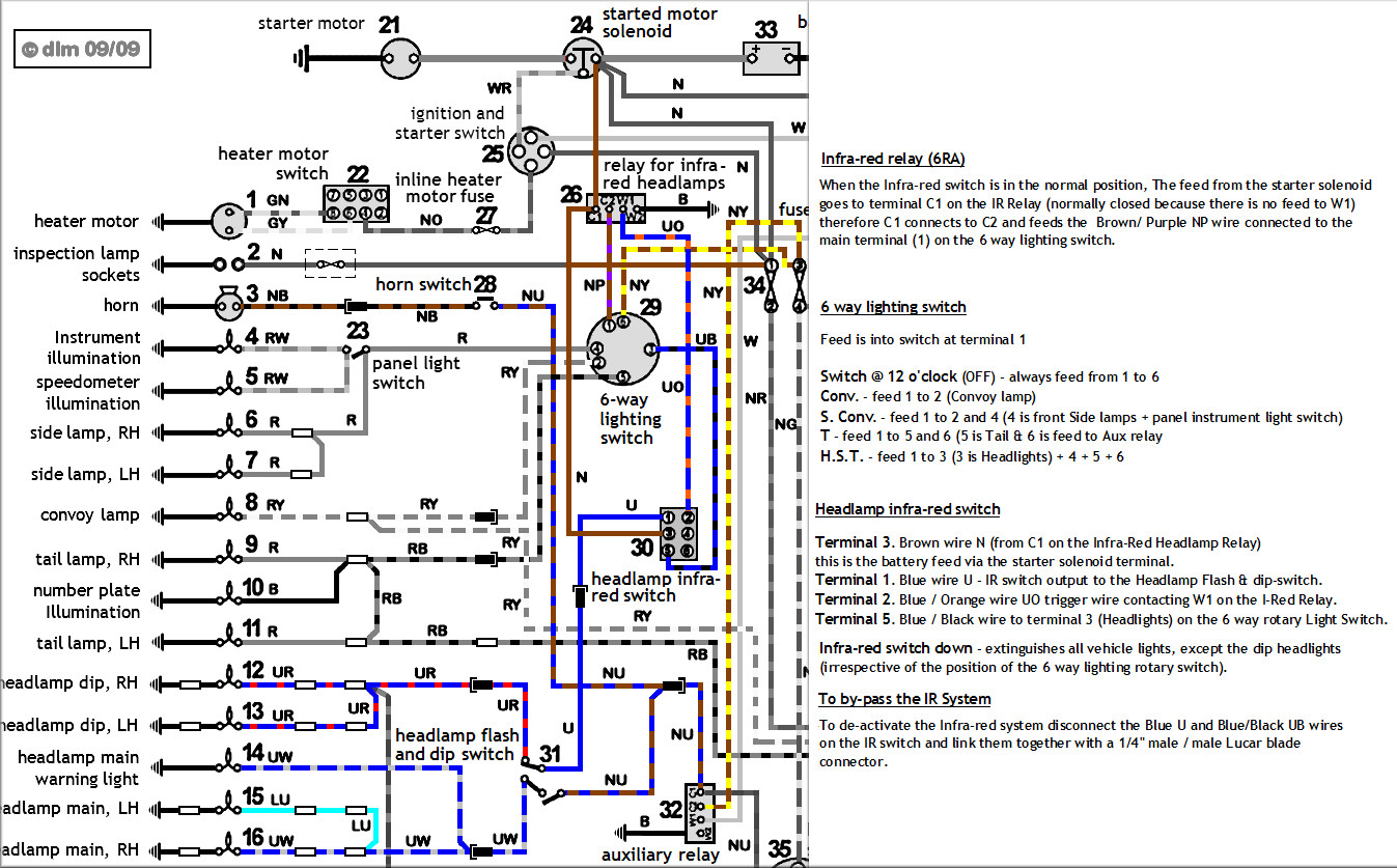 Land Rover Wiring Diagram Series List Of Schematic Circuit 5 Post Relay Negative Lightweight Rh Co Uk 2a Earth 1