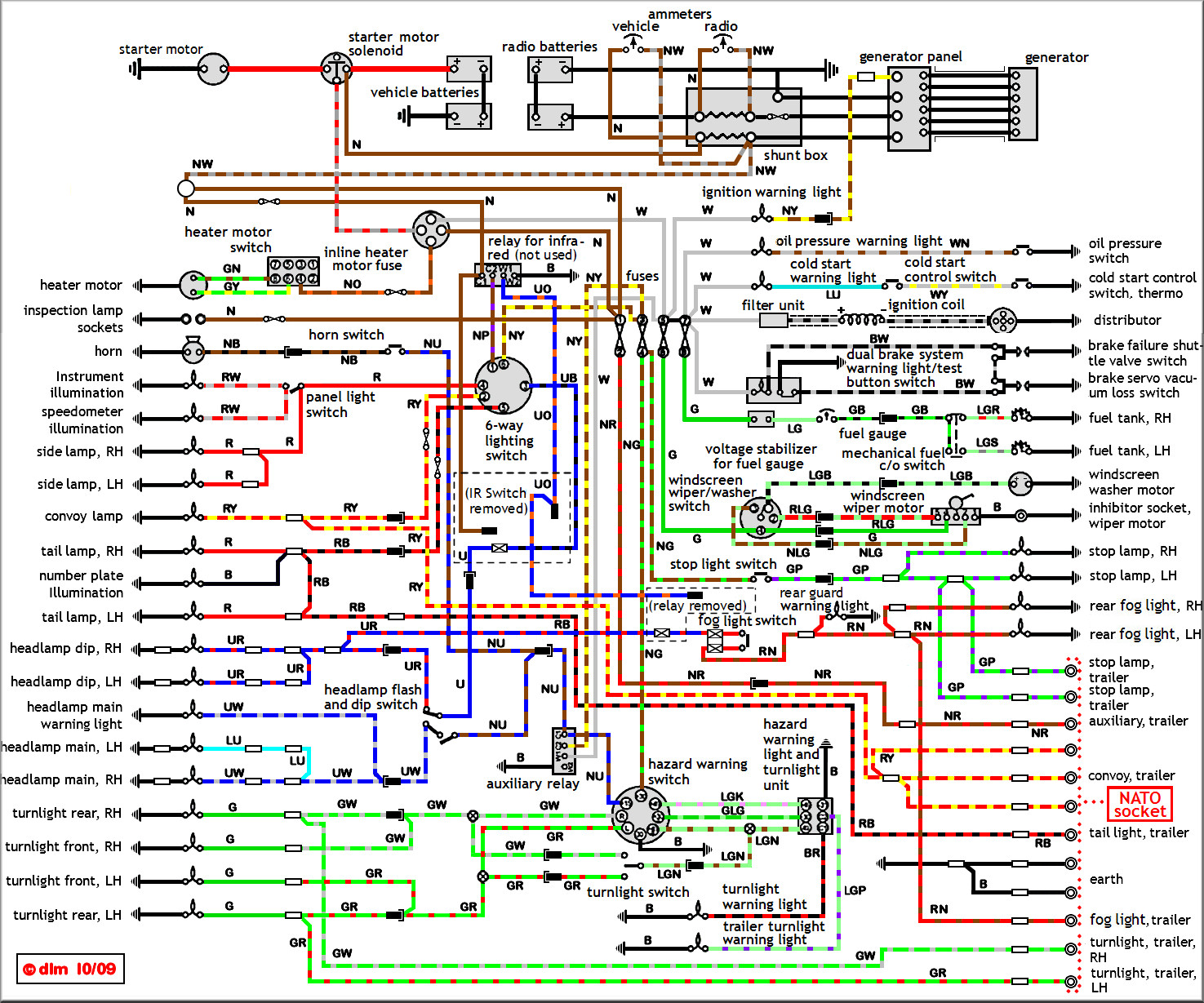 LRL 20M on vehicle wiring diagrams