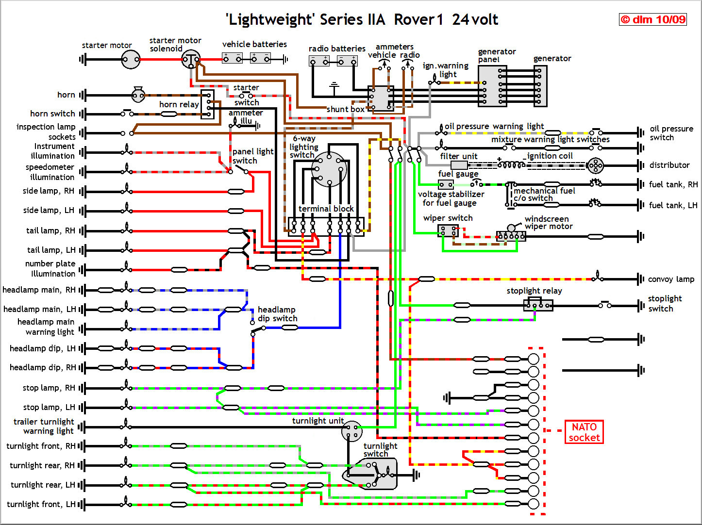Land Rover Lightweight A 500 Fog Light Wiring Diagram Series 3 24v Circuit