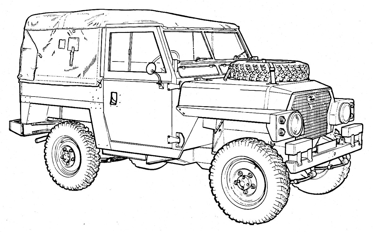 drawing car land rover discovery pictures
